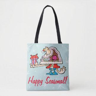 Silly Santa Seasonal Tote Bag!