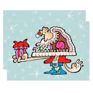 Silly Santa Signature Card