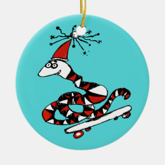 Silly Santa Snake Christmas Ornament