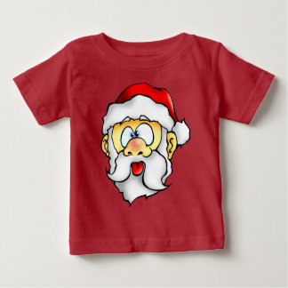Silly Santa taking a Selfie Baby T-Shirt