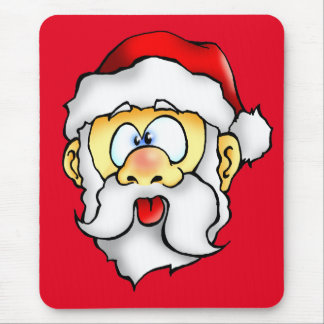 Silly Santa taking a Selfie Mouse Pad