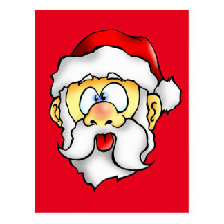 Silly Santa taking a Selfie Postcard
