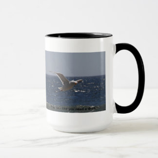 Silly Seagull Large Mug