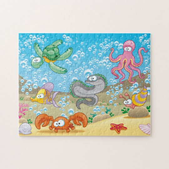 """Silly Sealife Puzzle, 11"""" x 14"""", 252 pieces Jigsaw Puzzle"""