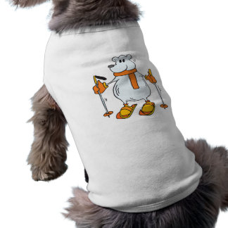 silly skiing polar bear pet shirt