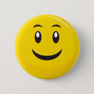 SIlly SMiley Face 2 Inch Round Button