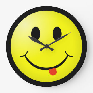 Silly Smiley Face Clock with tongue sticking out!