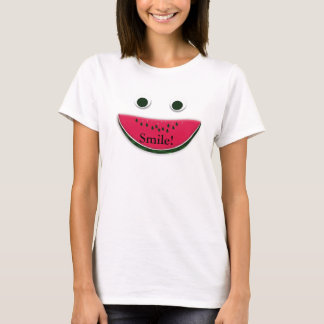 Silly Smiley Face Watermelon Slice T-Shirt
