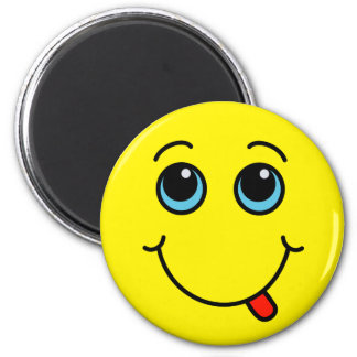 Silly Smiley Face Yellow Magnet