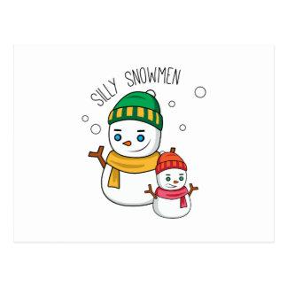 Silly Snowmen Post Card