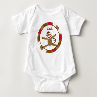 Silly Sock Monkey Baby T-Shirt