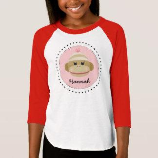 Silly Sock Monkey Girl Personalized Shirt