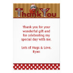"Silly SOCK MONKEY Thank You 3.5""x5"" (FLAT style) Personalized Invites"