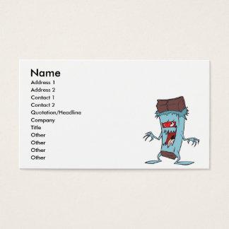silly super villian evil chocolate candy bar business card