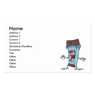 silly super villian evil chocolate candy bar pack of standard business cards