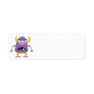 silly three-eyed ogre monster return address label