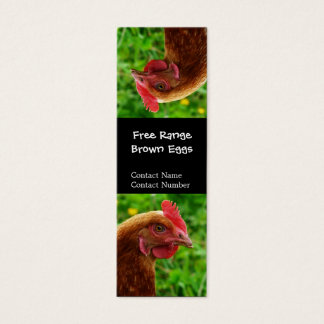 Silly upside Down Red Hen Bookmark Mini Business Card