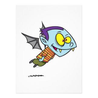 silly vampire bat boy character custom invite