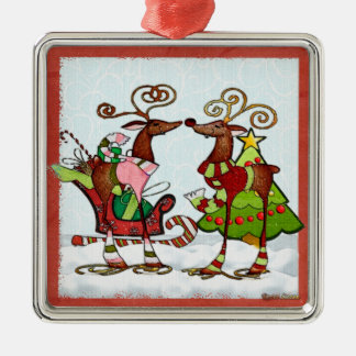 Silly Whimsey Christmas Mooks Christmas Ornament