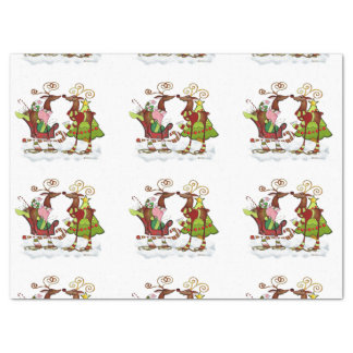 Silly Whimsey Christmas Mooks Tissue Paper