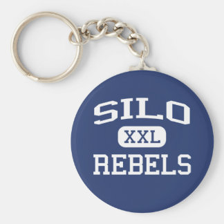 Silo - Rebels - Silo High School - Durant Oklahoma Keychain