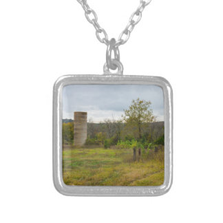 Silo Still Stands Silver Plated Necklace
