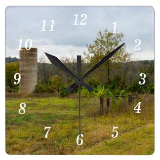 Silo Still Stands Square Wall Clock
