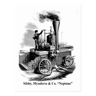 "Silsby Mynderse & Co.  Fire Engine ""Neptune"" Postcard"