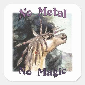 Silubhra No Metal No Magic Stickers