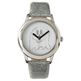 Silver 鬼 鬼 Stainless Steel Wristwatch