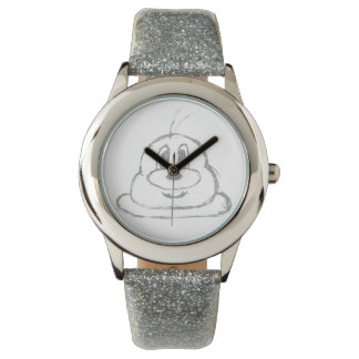 Silver 鲍 鲍 Stainless Steel Wristwatch