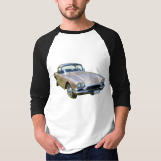Silver 1962 Chevrolet Corvette Sports car T-Shirt