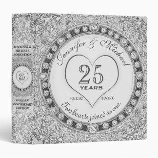 Silver 25th Anniversary Custom Gift Vinyl Binder