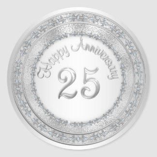 Silver 25th Anniversary Labels