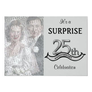 Silver (25th) Anniversary Party invitations