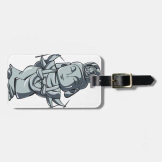 Silver accomplishing pulling out English story Luggage Tag