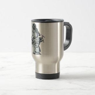 Silver accomplishing pulling out English story Travel Mug