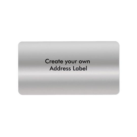 Silver Address Label
