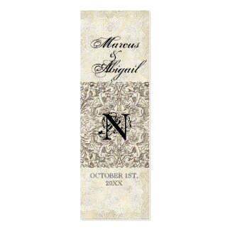 Silver Age of Elegance, Monogrammed Favor Gift Tag Business Cards