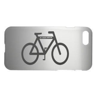 Silver and Black Bicycle Sports iPhone 7 Case