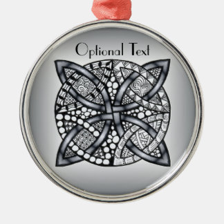 Silver and Black Celtic Knot Original Ornaments