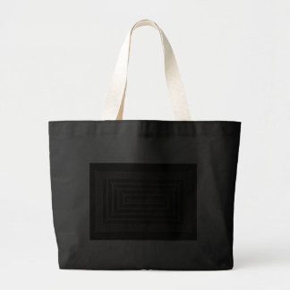 Silver And Black Celtic Rectangular Spiral Tote Bag