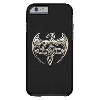 Silver And Black Dragon Trine Celtic Knots Art Tough iPhone 6 Case
