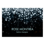 Silver and Black Falling Glitter Business Card