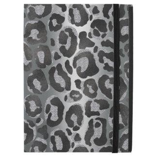"Silver and Black glitter  Leopard/ Jaguar print iPad Pro 12.9"" Case"