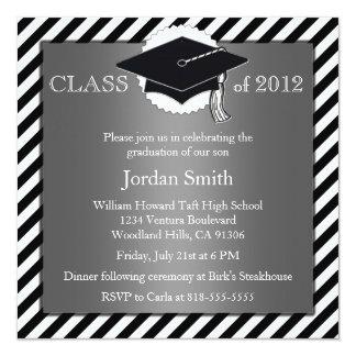 Silver and Black Graduation Announcement
