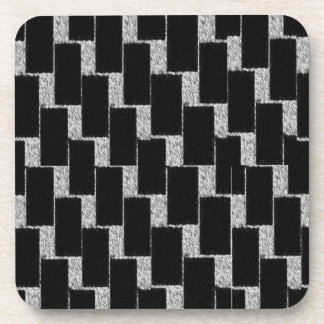 Silver and Black Illusion Coaster