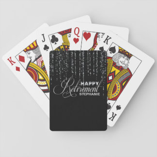 Silver and Black Retirement Party Playing Cards