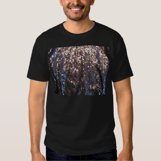 Silver and blue sparkles tee shirt