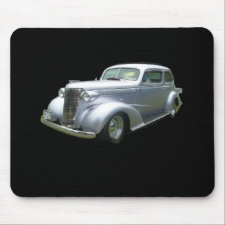 Silver and Chrome 1940 antique classic auto Mouse Pad